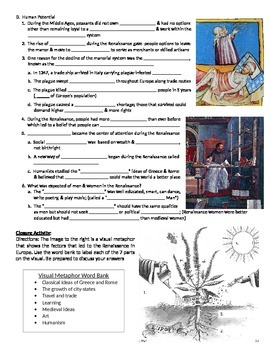 The Rise of the Renaissance Notes Page for use with PowerPoint