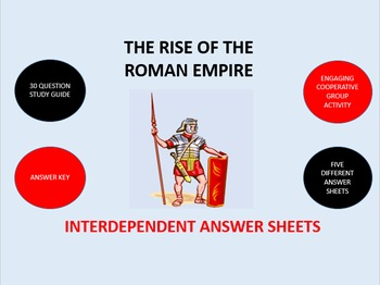 The Rise of the Roman Empire: Interdependent Answer Sheets Activity