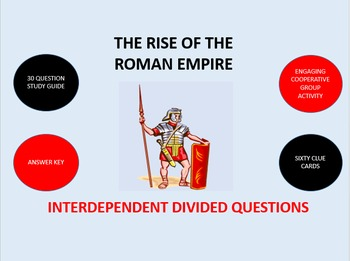 The Rise of the Roman Empire: Interdependent Divided Questions Activity