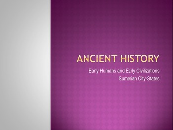The Rise of the Sumerian City States