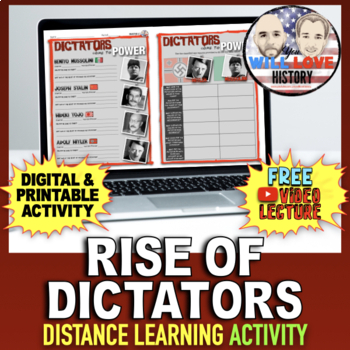 World War II: The Rise of the Dictators Activity