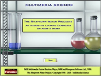 Chemistry - Acids & Bases - The Ritzytown Water Projects Software Bundle