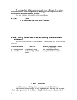 The River Novel Unit Activity Sheets