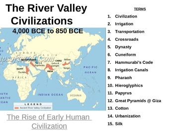 Ancient River Valley Civilizations Map Teaching Resources Teachers