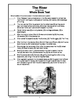 The River by Gary Paulsen  Whole Book Test