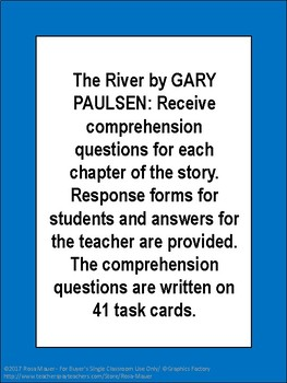 The River by Gary Paulsen Novel Study