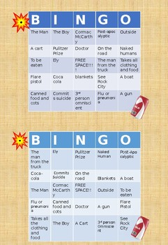 The Road by Cormac McCarthy BINGO