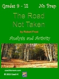 The Road Not Taken by Robert Frost Mini Unit
