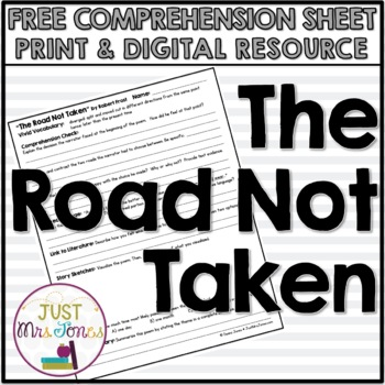 The Road Not Taken Poetry Comprehension