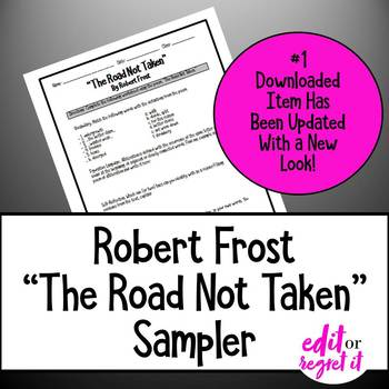 The Road Not Taken Vocabulary and Writing Activity