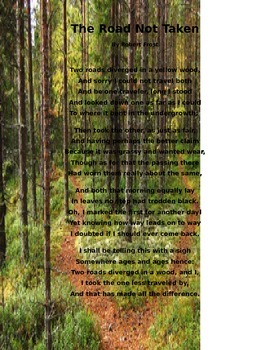 """""""The Road Not Taken"""" by Robert Frost lesson"""