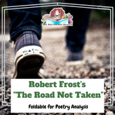 The Road Not Taken by Robert Frost Foldable Poetry Analysis Activity + answers
