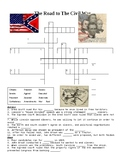 The Road to Civil War Crossword or Web Quest