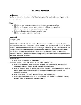 The Road to Revolution (AP US History - updated for 2017-2018 Rubrics)