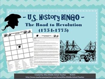 The Road to Revolution BINGO (1754-1775)