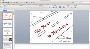 The Road to Revolution PowerPoint & Graphic Organizer