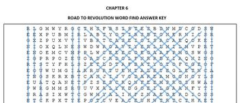 The Road to Revolution Word Find - U.S. History - American Revolution