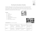 The Road to the American Revolution Timeline Activity