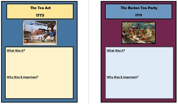 American Revolution Booklet: 13 Events from 1763-1776