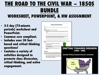 The Road to the Civil War Bundle - 1850s America - US History Common Core