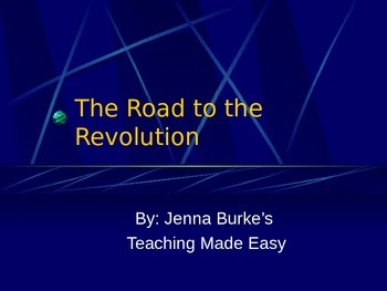 The Road to the Revolution