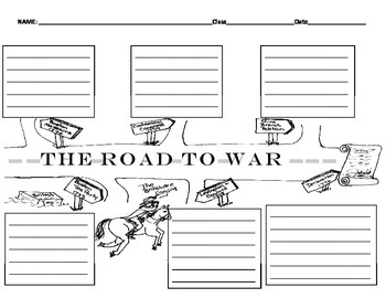 The Road to the Revoutionary War Graphic Organizer