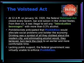 The Roaring 20s - Prohibition