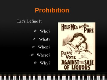 The Roaring 20s: Prohibition in Images - PowerPoint