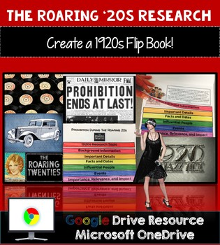 The Roaring 20s Research and 1920s Interactive Flip Book