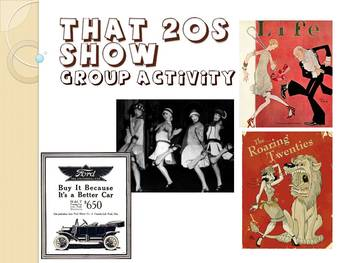 The Roaring 20s: That 20s Show Group Activity
