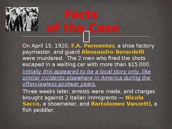 The Roaring 20s - The Sacco & Vanzetti Trial