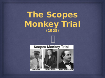 The Roaring 20s - The Scopes Monkey Trial