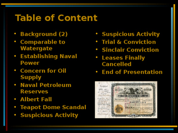 The Roaring 20s - The Teapot Dome Scandal