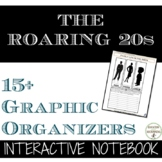 Roaring 20s Color Interactive Notebook Graphic Organizers on the 1920s UPDATED
