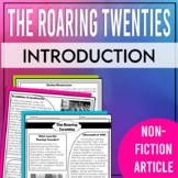 The Roaring Twenties: Introductory Article (Magazine Style)