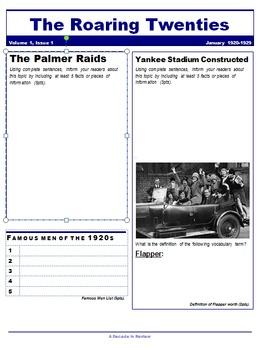 The Roaring Twenties Newspaper Project