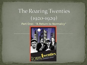 The Roaring Twenties Overview Notes