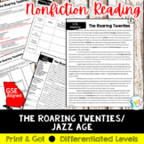 1920s Culture Reading and Writing Activity (SS5H2, SS5H2b)