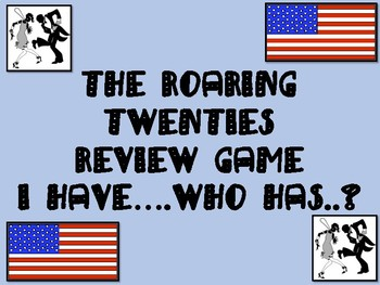 The Roaring Twenties Review Game