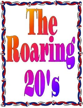 The Roaring Twenties Unit Plan Bundle