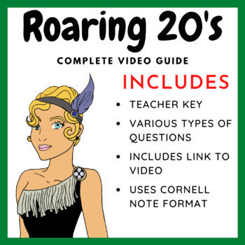 The Roaring 20's - Video Questions (link to video included)
