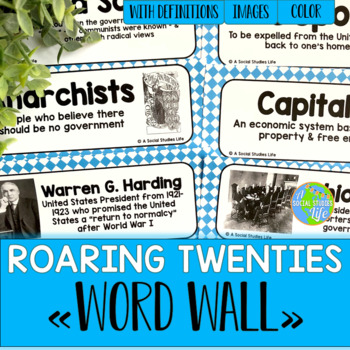 Roaring Twenties Word Wall