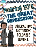 The Roaring Twenties and Great Depression Interactive Notebook Foldable Bundle