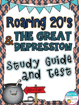 The Roaring Twenties and Great Depression Study Guide & Test