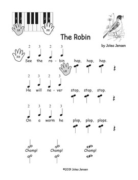 The Robin beginning piano song
