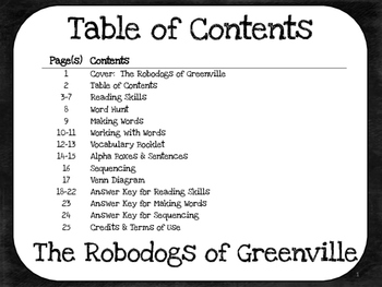 The Robodogs of Greenville  3rd Grade Harcourt Storytown Lesson 25