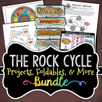 The Rock Cycle Bundle - Activities & Foldables - Save Over 30%