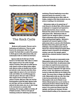 The Rock Cycle Close Read