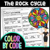 The Rock Cycle Science Color By Number or Quiz