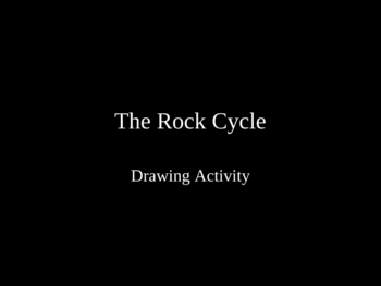 The Rock Cycle Drawing Activity